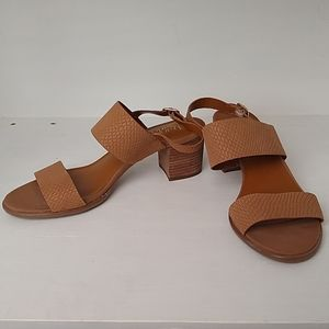 Franco Sarto brown heeled sandals - size 10